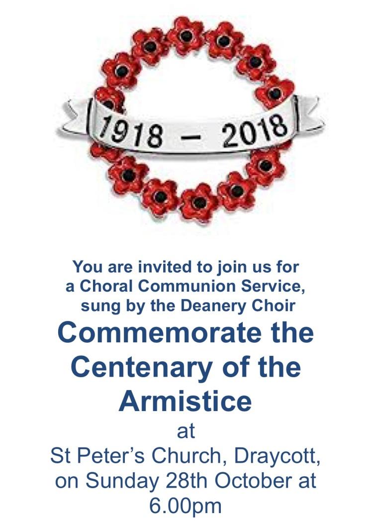 Armistice centenary poster